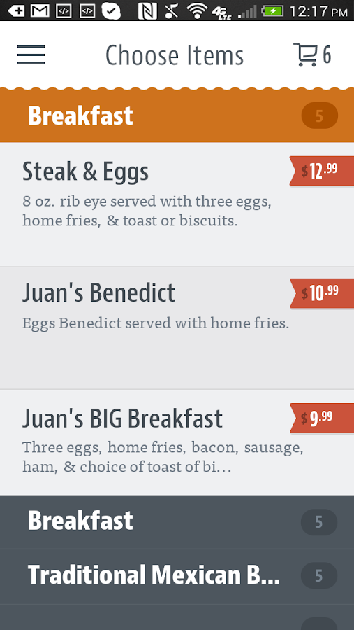 Juan's Mexican Cafe & Cantina- screenshot