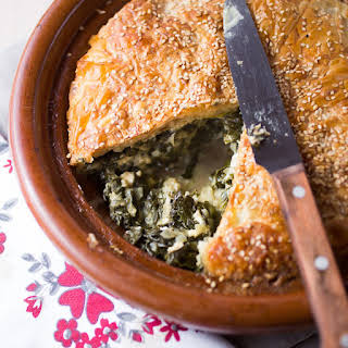 Spinach And Feta Pie.