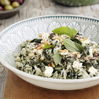 One-Pot Rice Pilaf with Spinach and Feta
