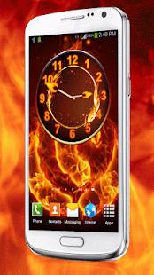 Oheň Hodiny Widget - náhled