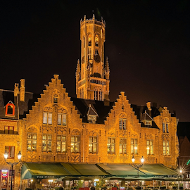Brugge... by Ioannis Alexander - Buildings & Architecture Public & Historical ( landmark, night photography, historic district, long exposure, historical, brugge,  )