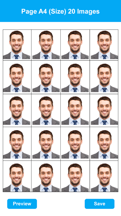 how to take a passport photo with android