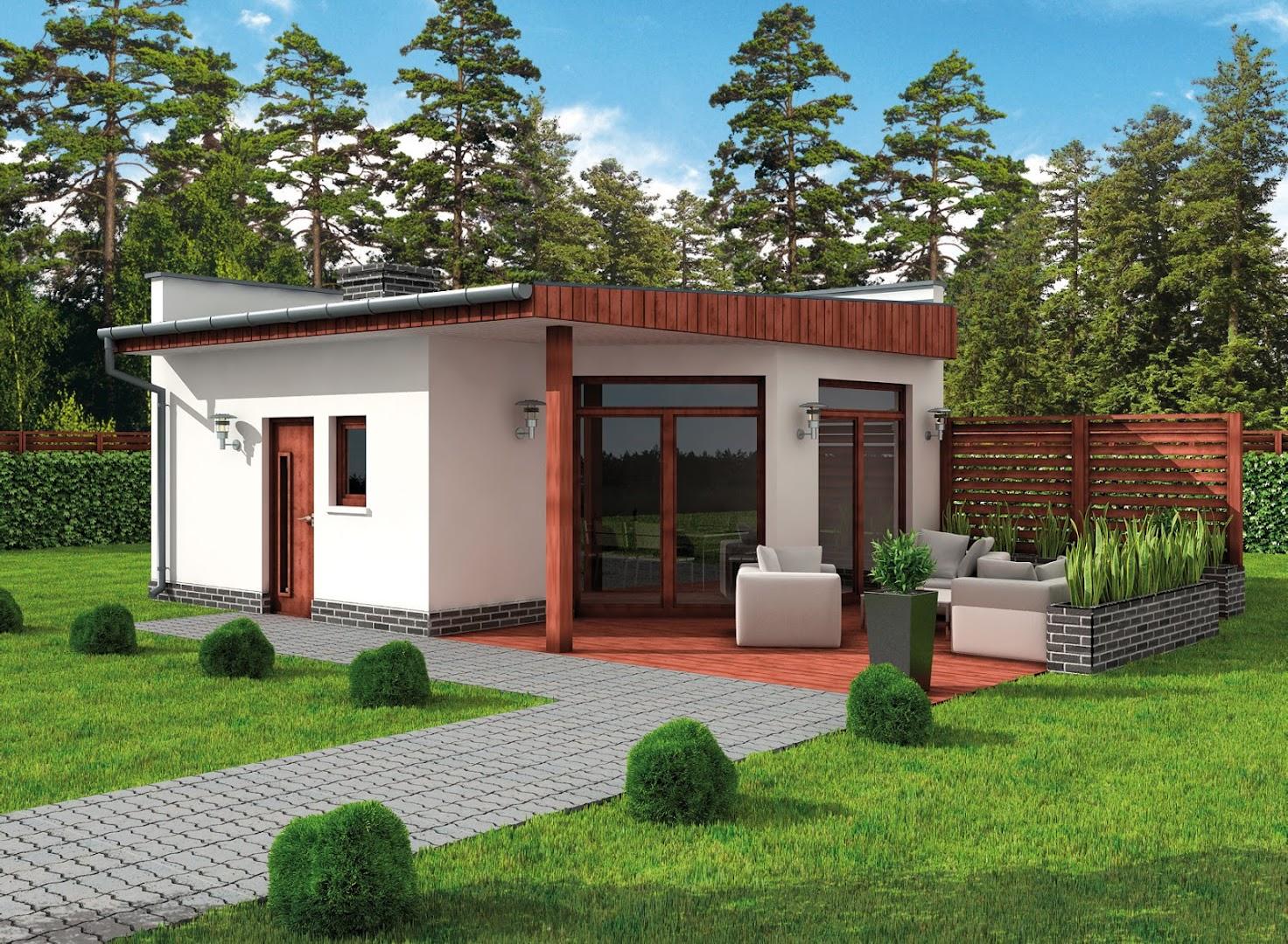 Projekt KL9 Kuchnia letnia  Bud gospodarczy (TDT 464