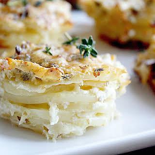 Parmesan Scalloped Potato Stacks.