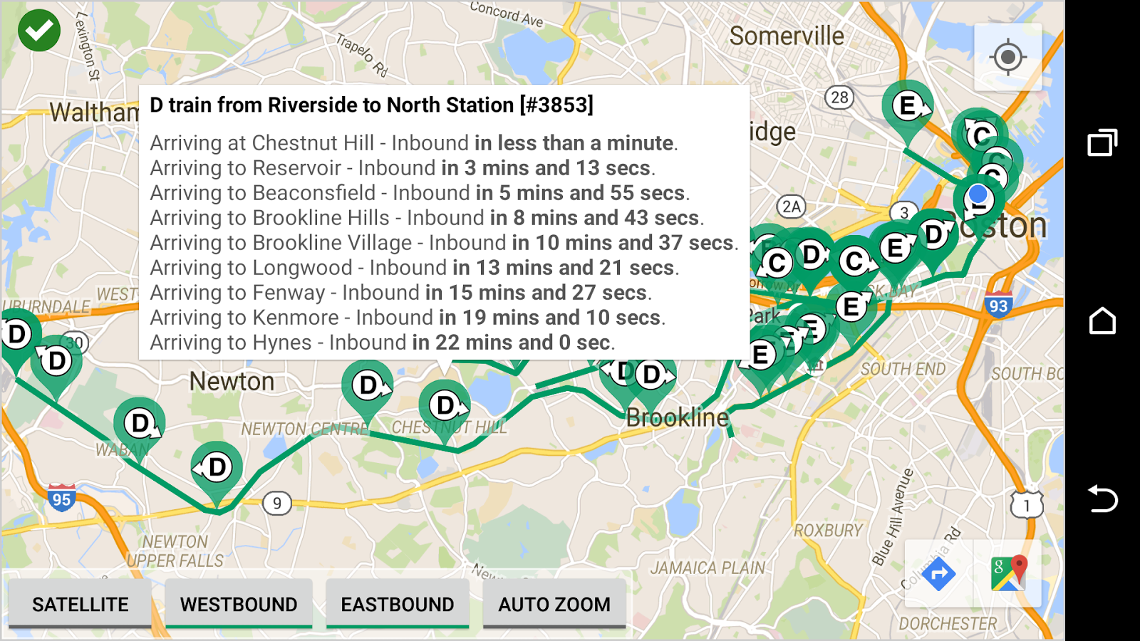 MBTA Green Line Tracker - Android Apps on Google Play