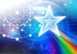 Photo: red de triángulos y estrella de 5 puntas