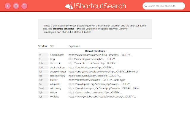 !ShortcutSearch