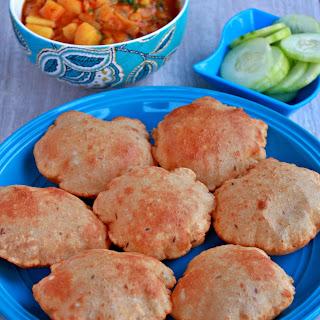Rajgira Aloo Poori | Amaranth Flour Poori Recipe