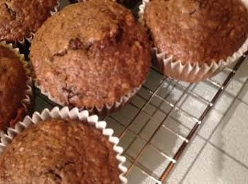 Chocolate Banana Granola Muffins Recipe