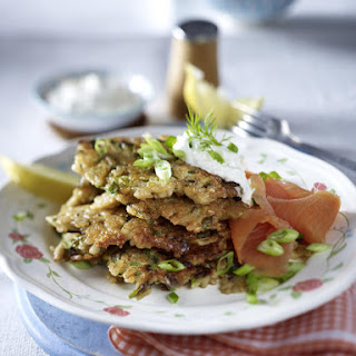 Mushroom and Horseradish Rice Cakes