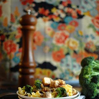 Chicken and Broccoli Pasta in Sherry Cream Sauce.