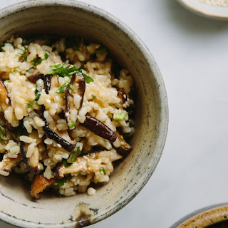 Roasted Shittake Brown Rice Salad w/ Miso Mustard Dressing..