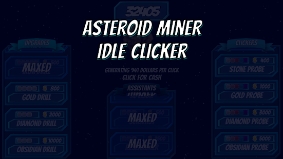 Asteroid Miner: Idle Clicker - náhled