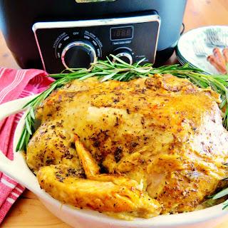 Crock Pot Rotisserie Chicken.