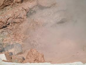Photo: red mud geyser