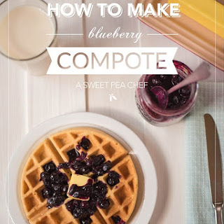 Easy Blueberry Compote.