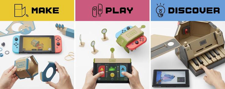 Crea nuevas maneras de jugar con Nintendo Labo para Nintendo Switch.