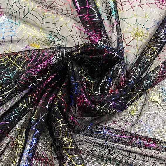 Spindel Glitternät - regnbåge