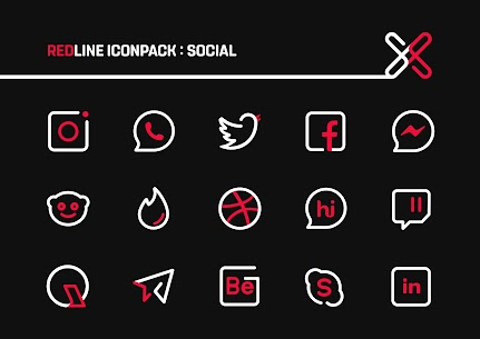 RedLine Icon Pack : LineX 3
