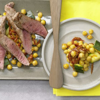 Saffron Chickpeas with Lamb.