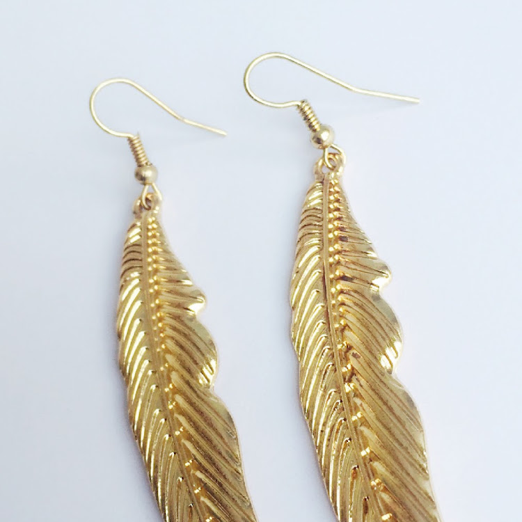E034 - G. Missy Feathered in Gold Earrings