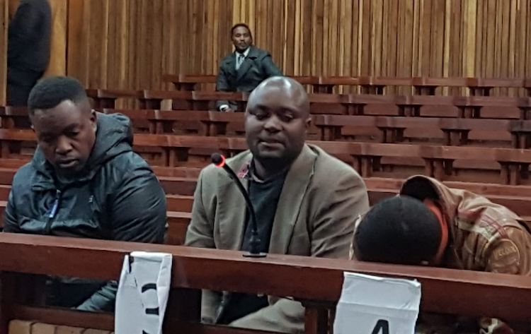 Jabulani Ndlovu, Forget Ndlovu and Sikhumbuzo Ndlovu at the Grahamstown High Court on Tuesday.