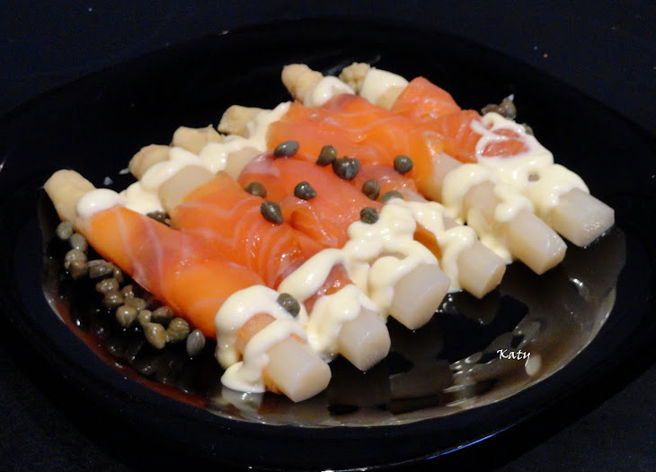 No Cook White Asparagus with Smoked Salmon Recipe