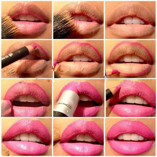 Lips Makeup Step By Step