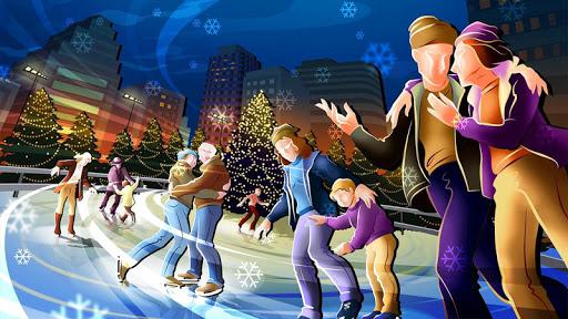 無料个人化Appのクリスマススケートリンクライブ壁紙|記事Game