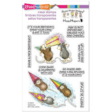 Stampendous Perfectly Clear Stamps 4x5.75 - Birthday Splash