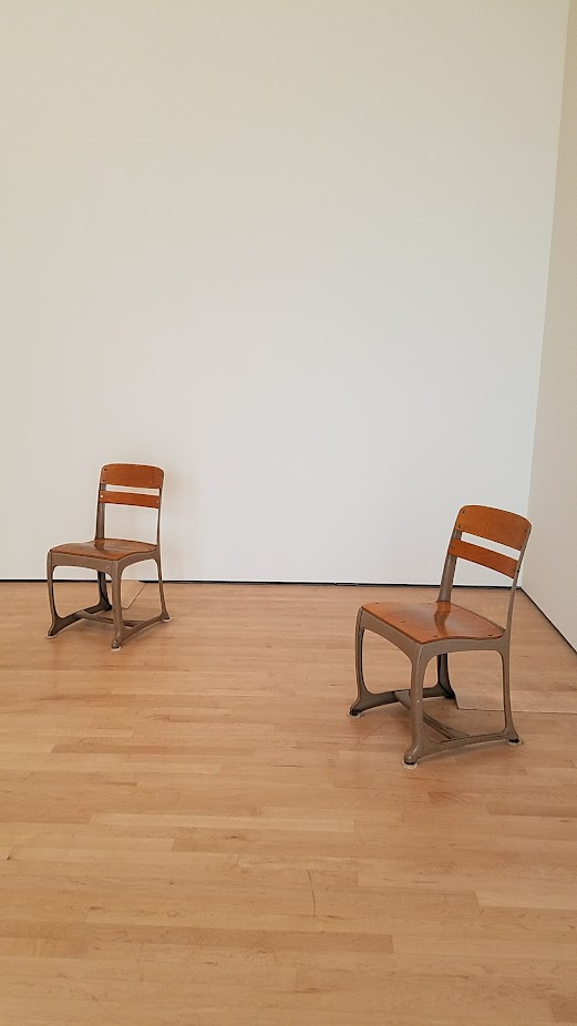 Soundtracks at SF MOMA, Sergei Tcherepnin's Stereo Classroom Chairs where you can literally feel the vibrations when sitting in the chair.