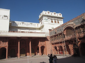 Photo: still in the fort / castle in bikaner