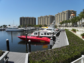 Photo: We drove the boat to this Marina for lunch/practice