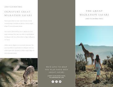 Great Migration Safari - Travel Brochure template