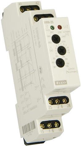 Kontrollrelä HRN-35, över/underspänning, 1-fas, 160- 276VAC, 0-10s