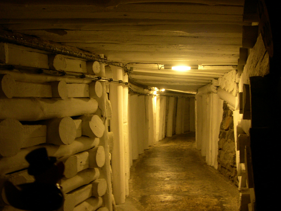Photo: through the danilowicz shaft, sunk in the years 1635 - 1640, we climbed down 380 steps to a depth of 64 meters