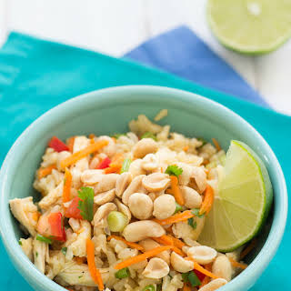 Chicken and Rice Salad with Ginger-Sesame Dressing.