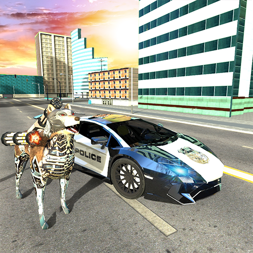 US Police Car Robot Transform: Cop Dog