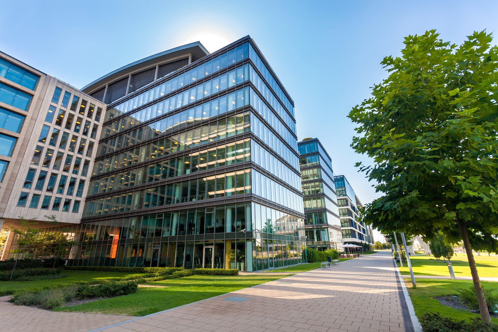 REIT stocks: glass buildings