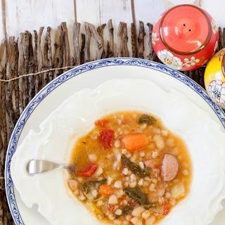 Sausage, Farro & Kale Soup.