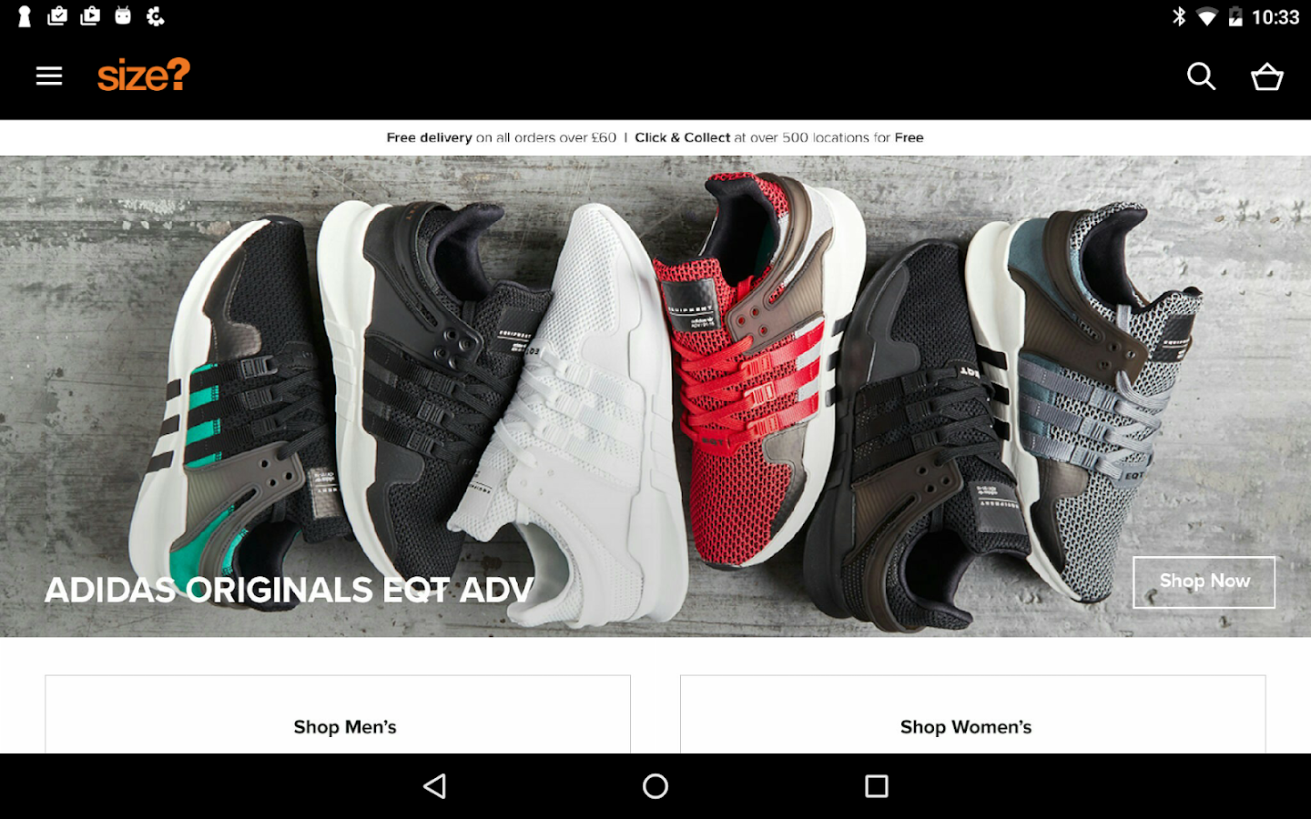 size?- screenshot
