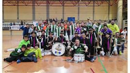 Los campeones de Almería celebrando el título.