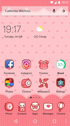 Cartoon Theme - Sweet Kitty 1.0.2 screenshots 1