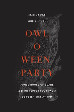Owl-O-Ween Party - Postcard item