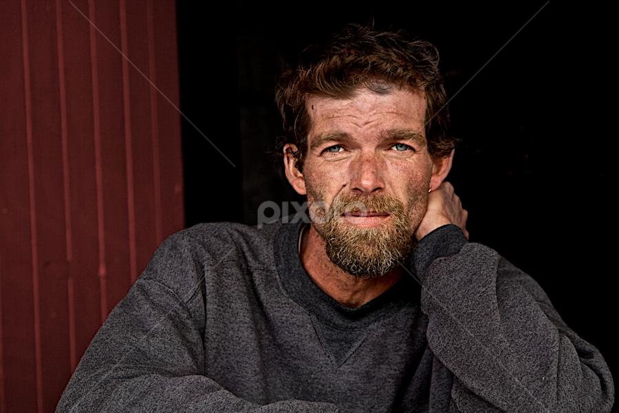 Homeless by Felix Choo - People Portraits of Men ( despair, sad, homeless, quiet, portrait, man )