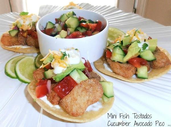 Mini Fish Tostados With Cucumber Avocado Pico Recipe