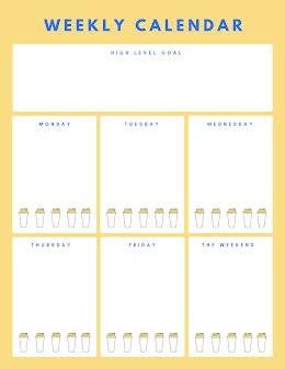 Weekly Calendar Bottles - Weekly Calendar item