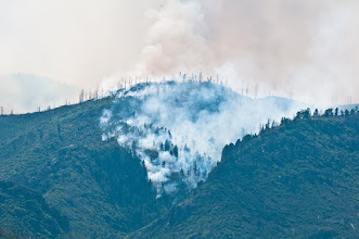 Photo: A pocket of fire just above Los Alamos.