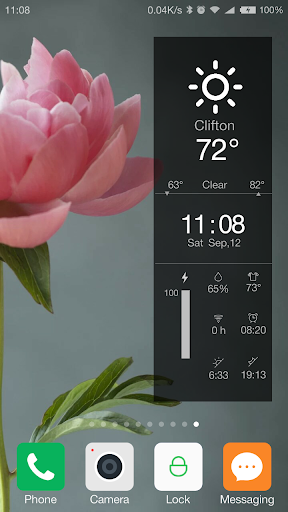 tablet weather battery widget