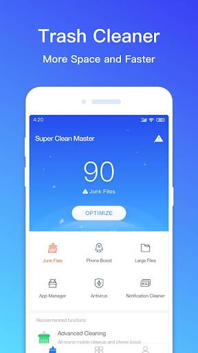 Super Clean Master - Antivirus, Booster, Cleaner Mod Apk Latest